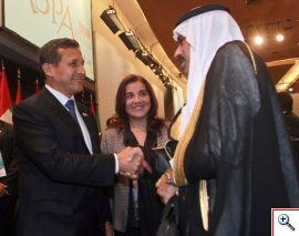 Presidente Ollanta Humala con un representante de la Liga Árabe