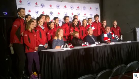 Equipo canadiense de patinaje sobre hielo que participa en Skate Canada International 2016